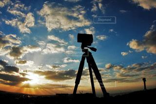 空,屋外,朝日,雲,青い空,正月,お正月,日の出,gopro,新年,初日の出,ご来光,三脚,撮影風景,タイムラプス