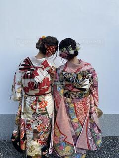 女性,神社,イベント,和服,お祝い,晴れ着,友達,ヘアアレンジ,成人式,和装,行事,ヘアセット,成人の日