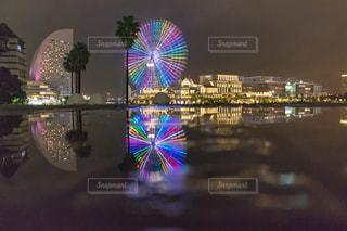 夜の街の景色の写真・画像素材[849036]