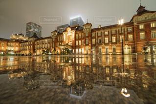 夜の街の景色の写真・画像素材[849078]