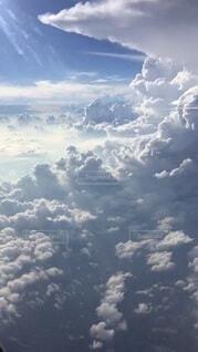 自然,空,屋外,雲,飛行機,日中