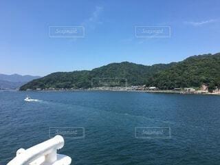 自然,海,空,島,船,水面,日中