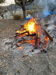 自然,炎,暖炉,火,地面,キャンプファイヤー,熱