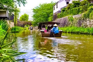 船,川,観光,旅行,お堀,近江八幡,水郷,滋賀県