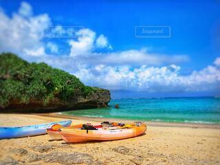 海,空,砂,ビーチ,砂浜,カヌー,沖縄,カヤック,やんばる