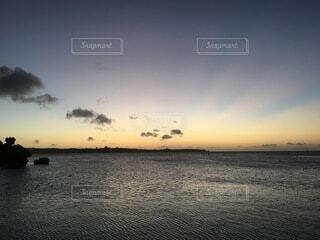 自然,海,空,夏,ビーチ,雲,夕暮れ,水面,海岸,沖縄