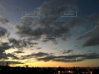 空,東京,雲,夕暮れ