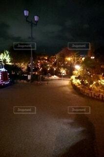 空,夜,屋外,景観,街路灯