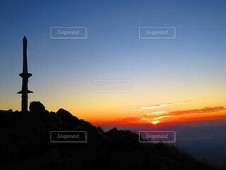 風景,空,朝日,山,霧島連山,高千穂峰,朝駆け,天逆鉾