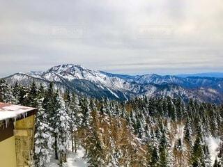 自然,風景,空,冬,雪,雲,雪山,山,登山,樹木,日本