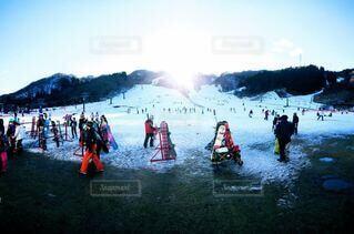 空,冬,雪,屋外,山,背景,スキー,運動,スノーボード,ウィンタースポーツ