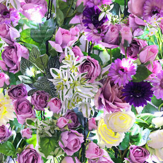 花,花束,紫,バラ,イルミネーション,ライトアップ,草木,足利フラワーパーク