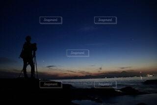 夜景撮影の写真・画像素材[4104249]