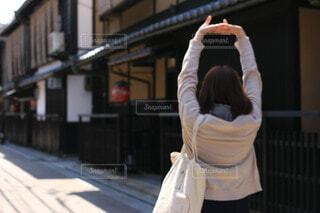 女性,風景,屋外,京都,人物,人,旅行,旅,日本,和風,通り