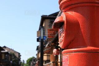 空,建物,屋外,京都,赤,都会,ポスト,火,通り,景観