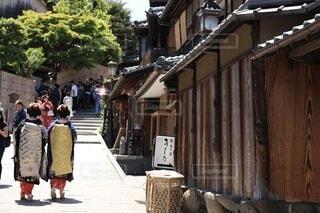 女性,屋外,京都,家,人,旅行,和,舞妓,舞妓さん,二年坂