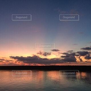 海,夕日,夕暮れ,オレンジ