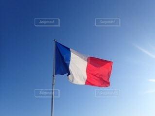 空,旅行,フランス,国旗,フラッグ,トリコロール,フランス国旗