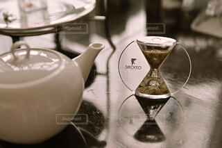 紅茶を蒸らす時間の写真・画像素材[4282739]