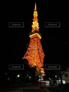 夜の東京タワーの写真・画像素材[4183932]