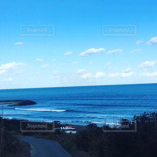 自然,海,空,湖,ビーチ,雲,水面,海岸