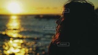 海,朝日,人,正月,お正月,日の出,見つめる,新年,初日の出,真鶴