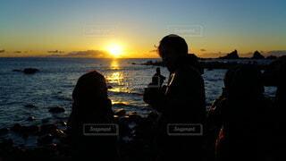 自然,海,朝日,海岸,正月,お正月,日の出,新年,初日の出,真鶴