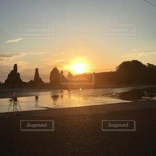 風景,空,屋外,太陽,朝日,雲,岩,日の出