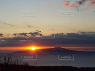 海,朝日,島,正月,お正月,日の出,新年,初日の出