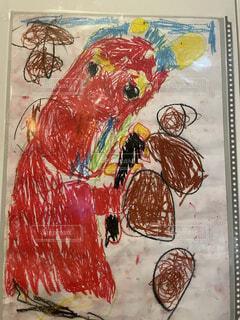 アート,絵画,漫画,テキスト,アクリル,スケッチ,図面,図,子供の芸術,強い鬼