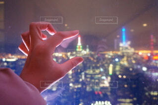 NYの夜景の写真・画像素材[4092545]