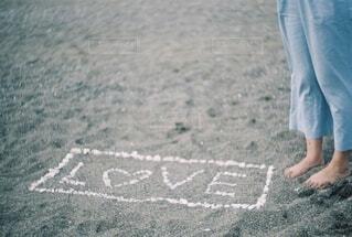 砂浜に愛のメッセージの写真・画像素材[4098390]