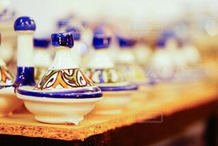 モロッコで見つけたタジン鍋の写真・画像素材[4100616]