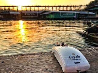 屋外,湖,朝日,水面,正月,お正月,新年,初日の出,サンシャイン