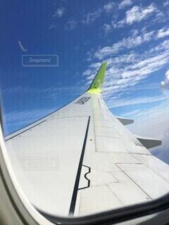 空,雲,晴れ,飛行機,航空機,フライト,車両