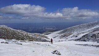 自然,空,冬,雪,屋外,雲,雪山,山,登山,丘,運動,ハイキング,冒険,山脈,斜面,ウィンタースポーツ,日中,安達太良山,山塊