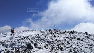 自然,空,冬,雪,屋外,雲,雪山,山,登山,丘,立つ,スキー,運動,冒険,山脈,斜面,ウィンタースポーツ,日中,安達太良山,山塊