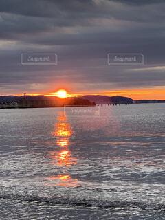 朝日,水面,正月,お正月,江ノ島,日の出,新年,初日の出