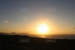 自然,空,太陽,朝日,山,正月,お正月,ハワイ,日の出,ダイヤモンドヘッド,初日の出