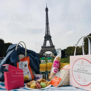 パリにてPicnicの写真・画像素材[4353421]