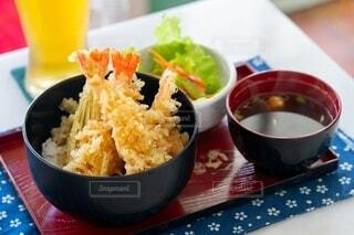 天丼定食の写真・画像素材[4159016]