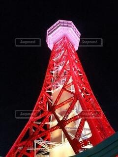 空,夜景,赤,タワー
