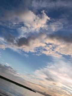 自然,風景,海,空,屋外,雲,空と海