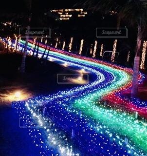 ネオン,ライト,鮮やか,イルミネーション,道