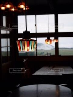 屋内,窓,レトロ,ランプ,天井,明るい,昭和レトロ