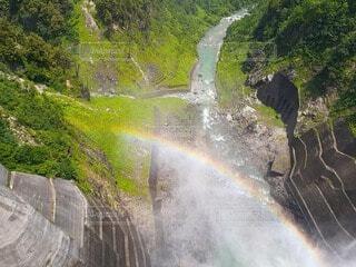 自然,虹,滝