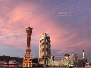 神戸の夕焼けの写真・画像素材[4113471]