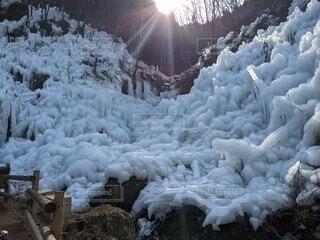 自然,冬,雪,屋外,冷たい,覆う,杭