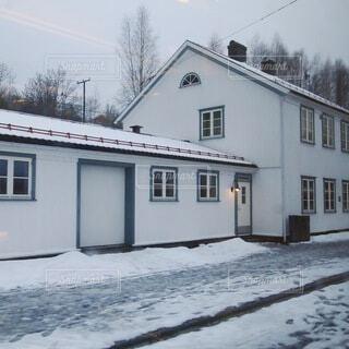 北欧の冬景色の写真・画像素材[4137450]