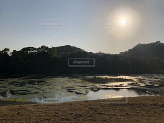 自然,風景,空,屋外,湖,ビーチ,水面,山,月